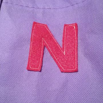 Monogram sewn